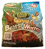 Black Forest Gummy Bears and Worms 3 Lb Bag, Assorted, 48 Ounce