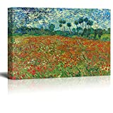 wall26 - Poppy Field by Vincent Van Gogh - Canvas Print Wall Art Famous Painting Reproduction - 24' x 36'