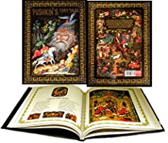 In English Language - Hard Cover - 10 1/2 inch X 8 inch Beautifly decorated PUSHKIN'S FAIRY TALES BOOK. BEAUTIFULLY ILLUSTRATIONS BY PALEKH ARTISTS. Contents: 1. Ruslan and Ludmila 2. Tale of Tsar Saltan 3. The Golden Cock 4. Tale of the Pope and his...