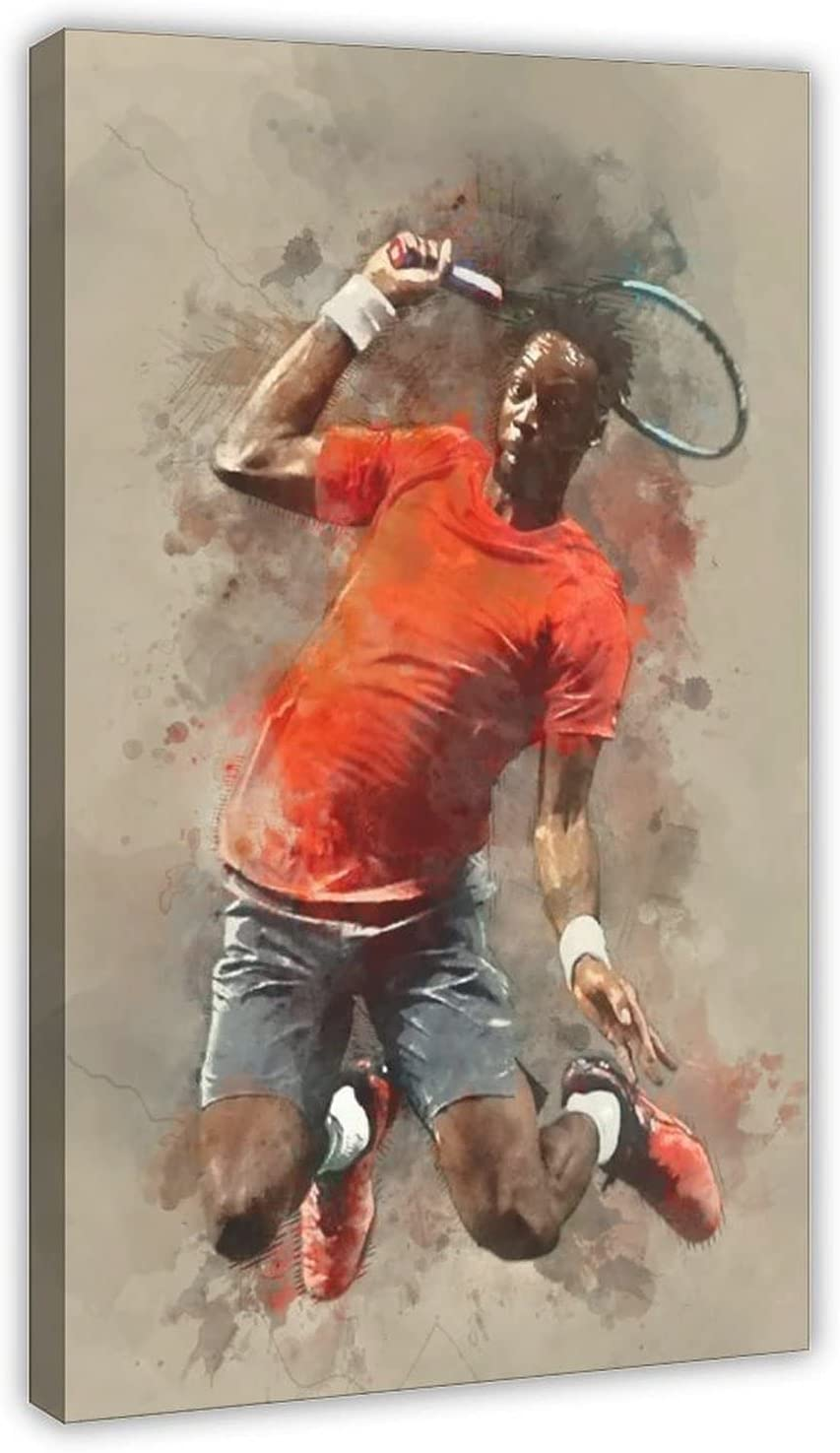 Sports Superstar Gael Monfils A surprise price is realized Tampa Mall Tennis 4 Poster Canvas Bedr