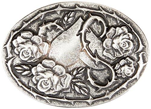 MGM Unisex Rosenliebe Gürtel, Silber (Altsilber 01), Angabe|#694