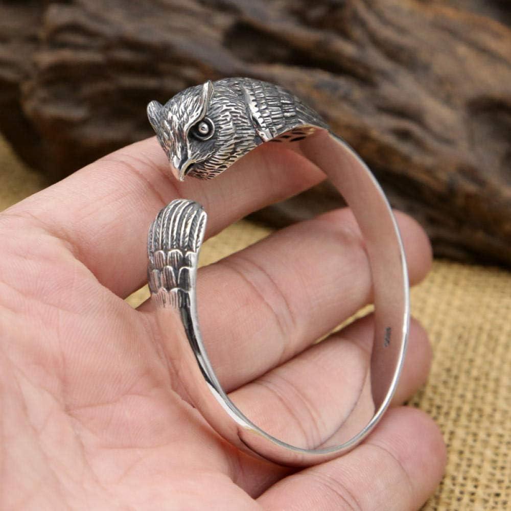 THTHT S925 Regular dealer Silver Vintage Bracelet Owl Men's Fas Opening Women's Selling rankings