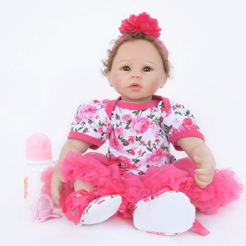 LLX Reborn Baby-Puppe Weich Simulation Silikon Vinyl 22 Zoll 55 cm Magnetisch Mund Lebensechte Boy Girl Mdchen Spielzeug