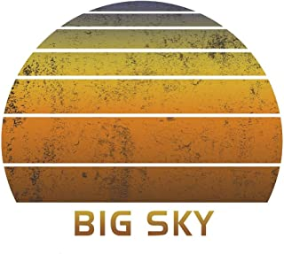 Big Sky: Montana Notebook Paper For Work, Home or School With Lined Wide Ruled White Sheets. Vintage Sunset Note Pad Compo...