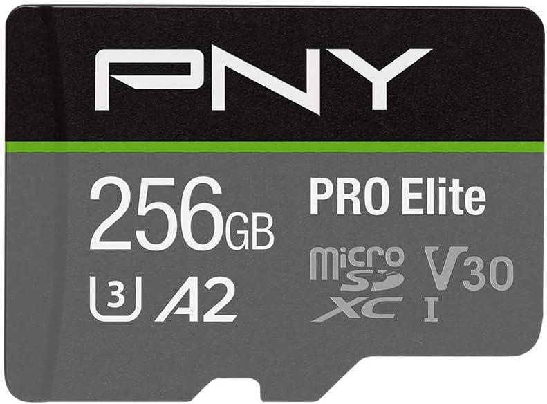 PNY 256GB PRO Elite Class 10 U3 V30 microSDXC Flash Memory Card