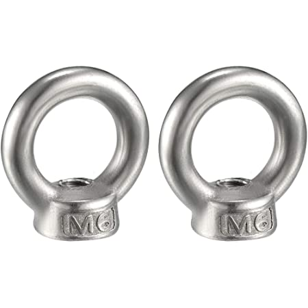 uxcell Lifting Eye Nut M6 Female Thread C15 Carbon Steel Round Shape for Rope Fitting Pack of 5