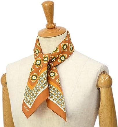 [LARDINI【ラルディーニ】]スカーフ JPFOU7/EG52173/610 シルク 小紋柄 オレンジ