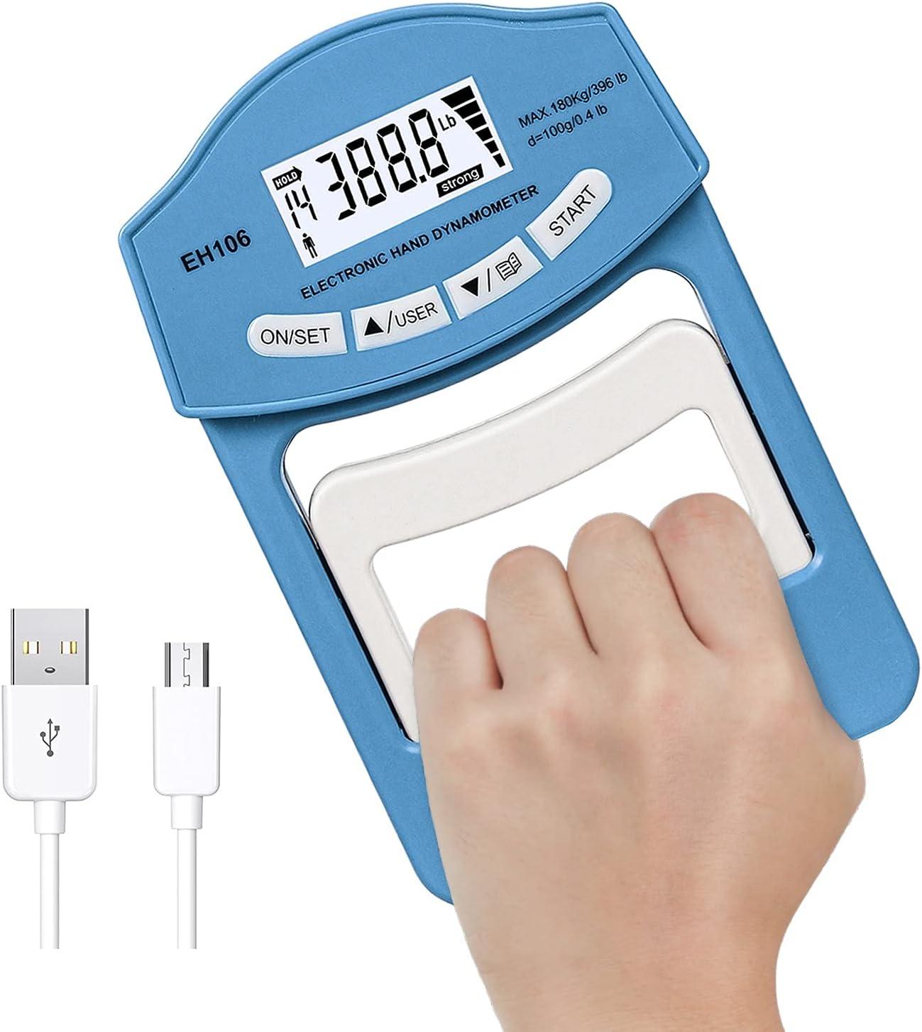 396 Lbs 180 Kgs Power Nippon regular agency Max 55% OFF USB Digital Strength Dynamo Grip Tester