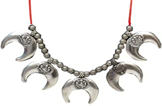 Bollywood Oxidized Choker Thread Indian Necklace Jewelry for Girls and Women