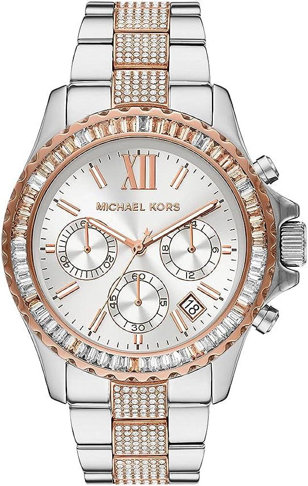 Reloj Everest para mujer, de Michael Kors, de acero inoxidable y con cronógrafo, MK6975