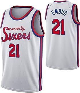 OJN 76ers Embiid Basketball Trikot-21# ärmelloses T-Shirt Trainingsspiel Trikot Swingman Trikot gesticktes Trikot Junge Erwachsene Jugend Urlaub Geschenk