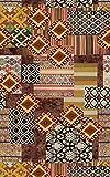 Vilber Bohemian Kilim 2494 Alfombra, Vinilo, Multicolor, 75x120x0.2cm
