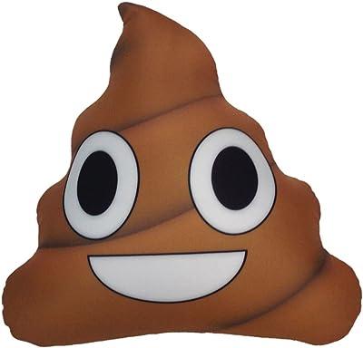 Amazon.com: MinTu Creative almohada, Browm Emoji smiely caca ...