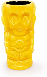 Geeki Tikis Star Wars C-3PO Mug | Official Star Wars Collectible Tiki Style Ceramic Cup | Holds 14 Ounces