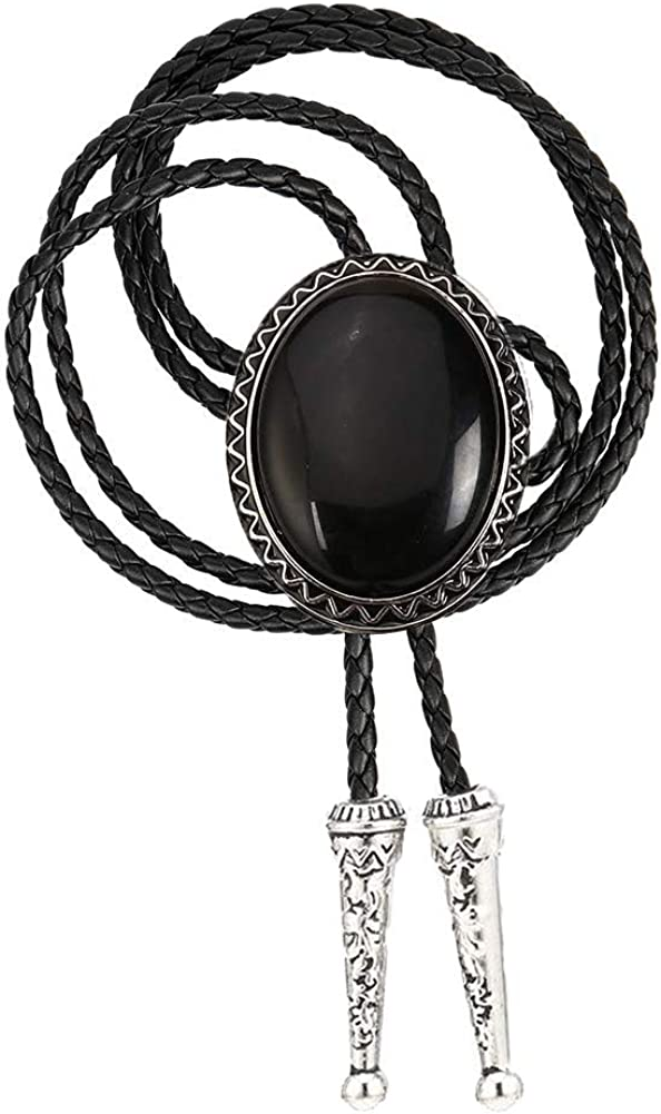 Tochispa bolo tie for man,handmade western cowboy alloy natural mix Leather Bolo Tie