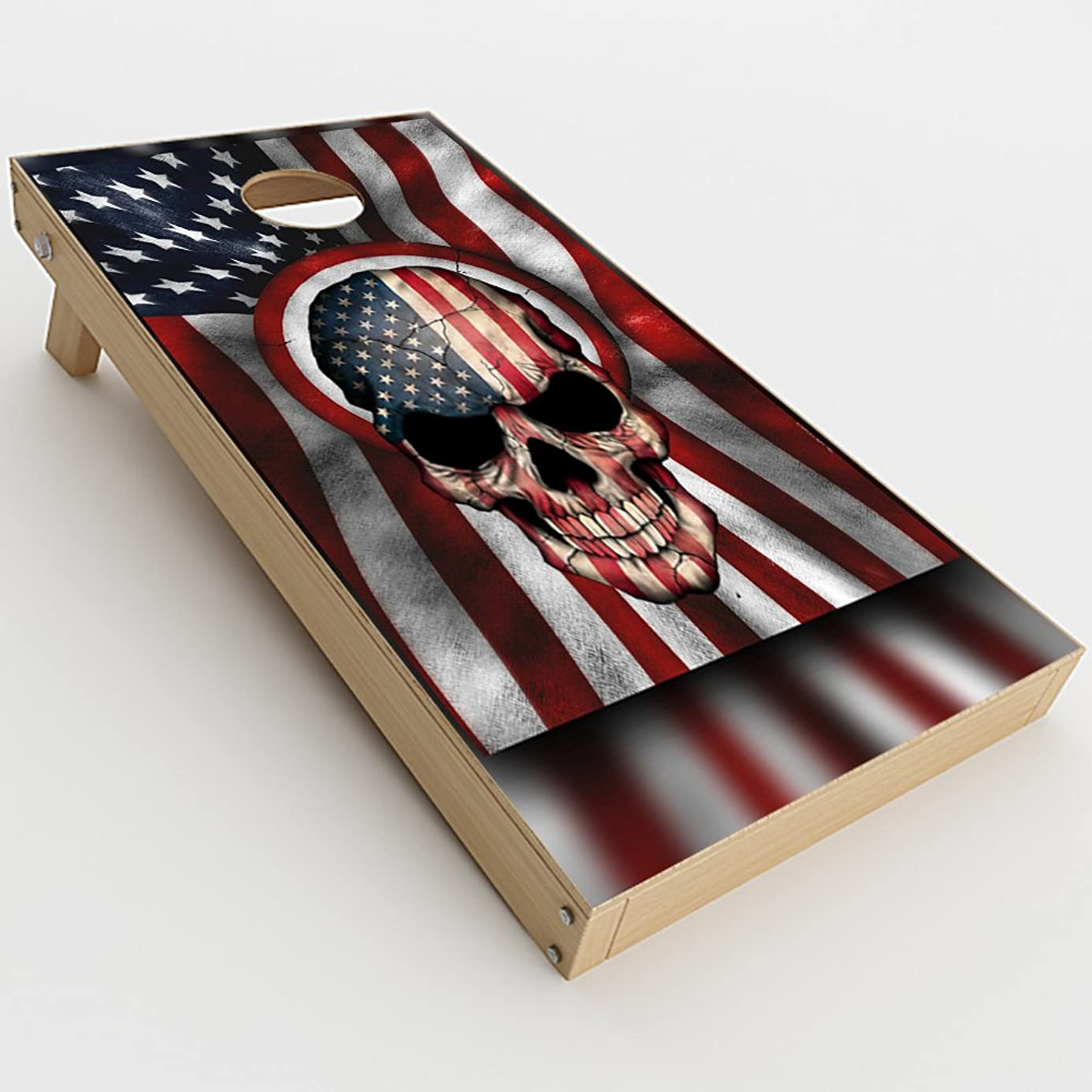 Skin Decal Vinyl Wrap for Cornhole Game Board Bag Toss (2xpcs.) Skins Stickers Cover / America Skull Military USA Murica