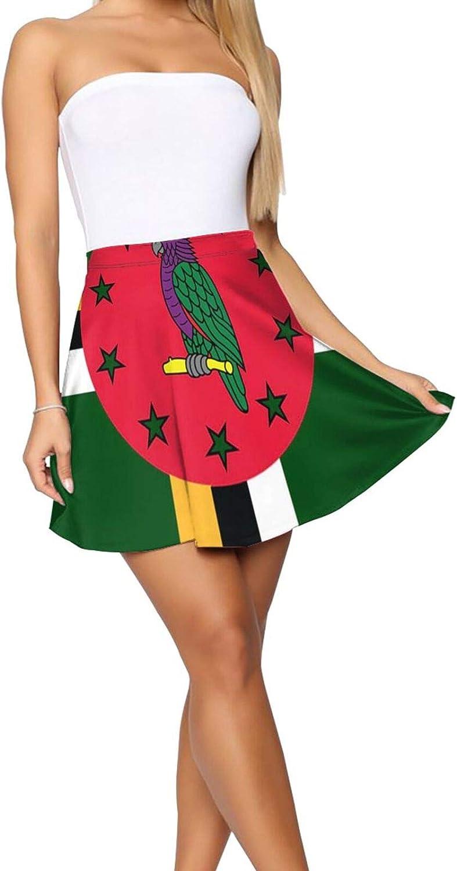 JJCSTE.C Dominica Flag Women's Skater Skirt Elasticity Short Skirt