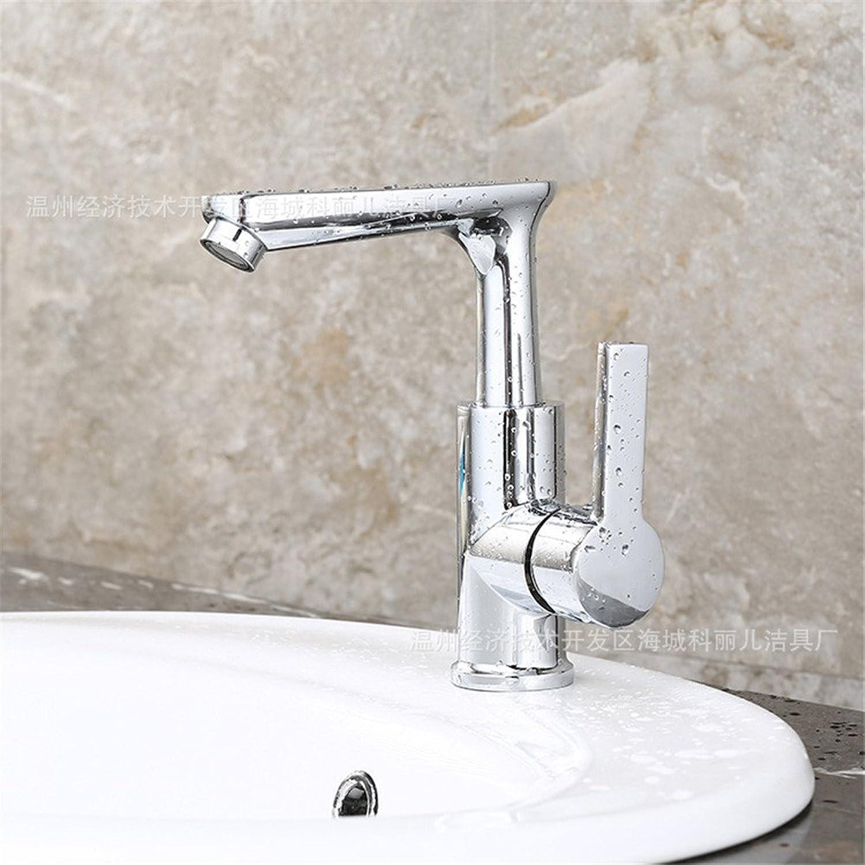 AOEIY Chrome hei und kalt Wasserhahn Küchen Mischbatterie Waschtischarmaturen Mixer Spültisch Armatur Bad Spülbecken Spültischbatterie badezimmer Küchenarmatur Edelstahl