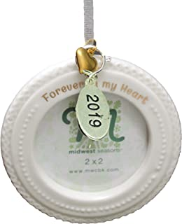 Twisted Anchor Trading Co 2019 Memorial Ornament - Forever in My Heart - Memory Frame Ornament, Memorial Christmas Ornament or Miscarriage Ornament - Comes in A Gift Box So Its Ready for Giving