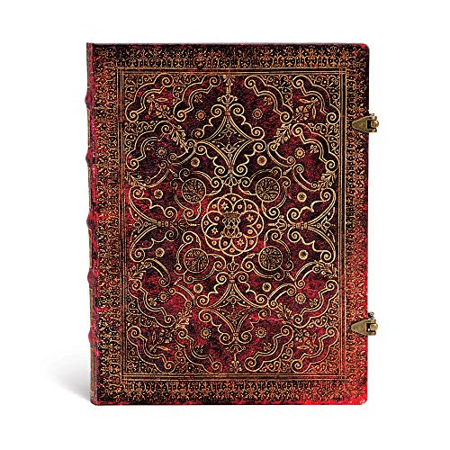 Equinoxe Karmin - Notizbuch Groß Liniert - Paperblanks