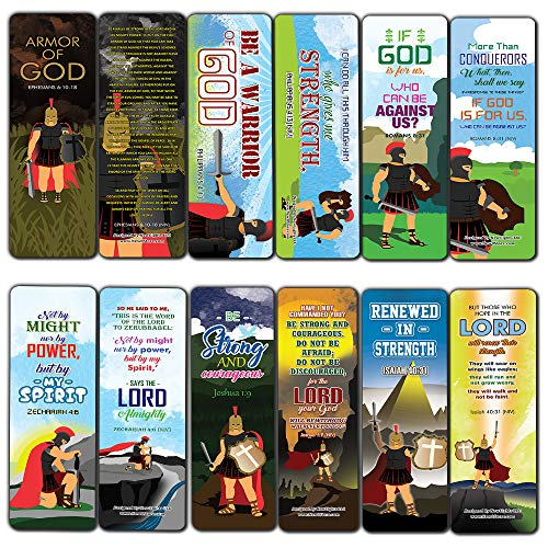 Armor of God Bookmarks (12-Pack) - Thanksgiving Christmas Rewards Encouragement Gift for Adults Men and Women