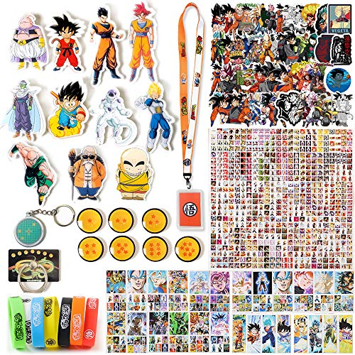 Fantere Fan Set for Dra-gon-Ball with Badge, Keychain, Wristband, Magnetic Stickers, Sticker, Lanyard, Lomo Card, Phone Stand, and Bookmark