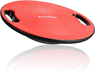 EveryMile Wobble Balance Board, Exercise Balance Stability Trainer Portable Balance Board with Handle for Workout Core Trainer Physical Therapy & Gym 15.7
