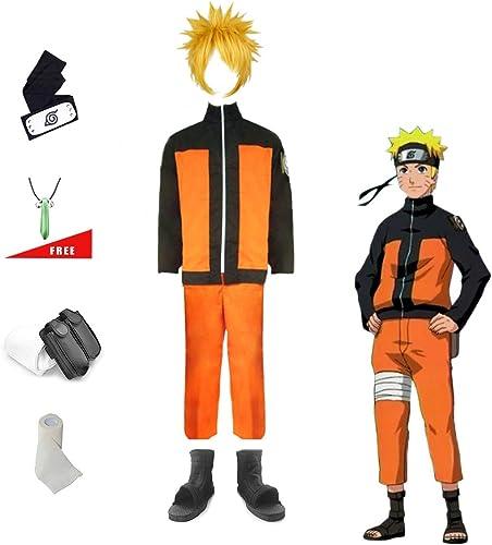 Lackingone Naruto Uzumaki Shippuden Ninja Cosplay Kostüm Set