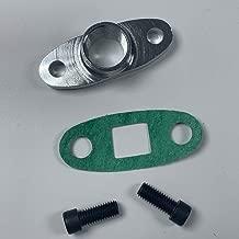 Aluminum Turbo Oil Drain Return Flange Adapter Fit T3 T4 T04 1/2 NPT GT40R GT42