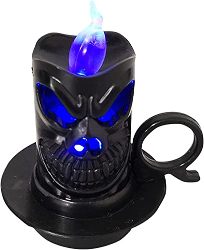2021 Halloween Flameless Candles Light - Halloween Skull-Candle Candle-Light, Battery Operated for Halloween Home Decoration sale 2021 Gifts online