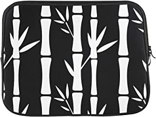 Design Custom Seamless Pattern with Silhouettes Bamboo Trees and Sleeve Soft Laptop Case Bag Pouch Skin for MacBook Air 11