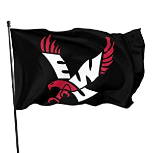 Ewu Eastern Washington University Eagles Flag Vertical Double-Sided, Indoor Decoration, Seasonal Courtyard Outdoor Small Polyester Sign Double-Sided 3x5 Ft