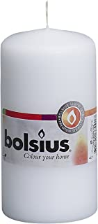 """Bolsius Pillar Candle Small , """"White 60 mm Width"""""""