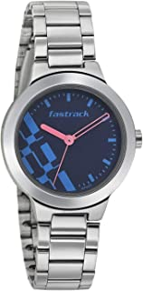 Fastrack Casual Watch for Women, Stainless Steel - 6150SM03