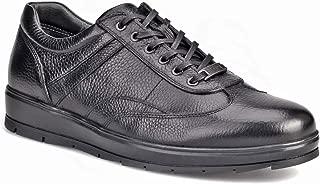 Cabani Bağcıklı Günlük Erkek Ayakkabı Siyah Naturel Floter Deri