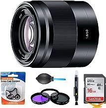 Sony SEL50F18/B - 50mm f/1.8 Mid-Range Prime E-Mount Lens Essentials Bundle