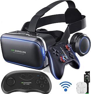 XGVRYG Auriculares VR, Gafas 3D VR, 108 ° FOV, Auriculares de Realidad Virtual HD con protección Ocular con botón táctil p...