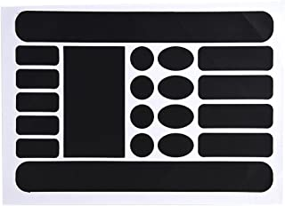 VGEBY 20Pcs Chainstay and Frame Protectors Decal Stickers Kit Including Ovals, Circles Rectangle and Strip Shapes(Black)