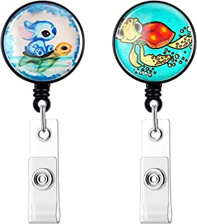 【2020 Newest】HASFINE Retractable Badge Holders ID Badge Reel with Clip on ID Card Holders for Office Staff Nurse Doctor Te...