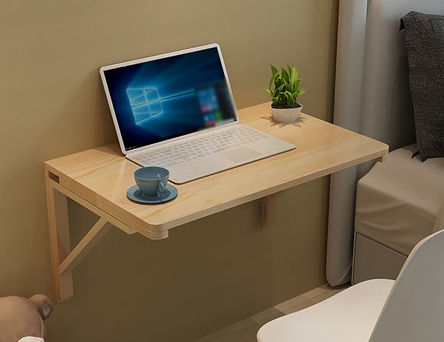 Side Table Wall-mounted Folding Table Dining Table Solid Wood Wall Hanging Computer Desk Wall Table ( Size   50cm30cm )