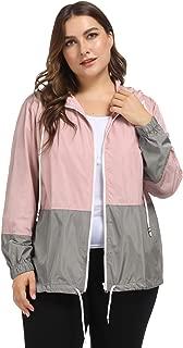 Hanna Nikole Women Waterproof Hooded Raincoat Plus Size Lightweight Rain Jacket