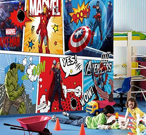 Papier Peint Mural Personnalisé 3d Murale Avengers Chambre D'enfants Chambre Garçon Fond Papier Peint Papier Peint Superman Spiderman