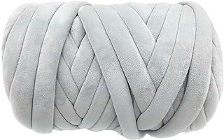Super Vegan Velvet Chunky Yarn, Acrylic Bulky Thick Roving Washable Softee Jumbo Tubular Yarn for Arm Knitting Home décor ...