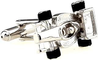 MRCUFF Race Car Indy F1 Formula One Pair Cufflinks in a Presentation Gift Box & Polishing Cloth