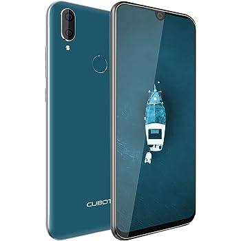 CUBOT R19 Android 9.0 4G Smartphone Libre Sin Contrato 5.71 Pulgadas 19:9 Pantala con Gotitas de Agua Quad-Core 3GB RAM 32GB ROM Dual SIM Dual Cámara Face ID/GPS/WiFi/Tarjeta TF(Verde Osculo): Amazon.es: Electrónica