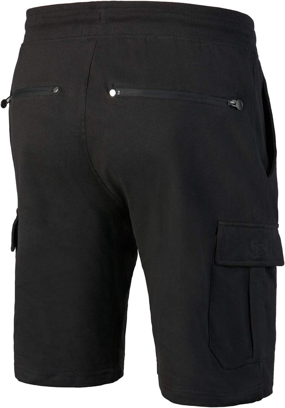 con bolsillos laterales y 2 bolsillos traseros con cremallera Pantalones cortos cargo para hombre 6XL para hombre en colores cl/ásicos tallas S Mount Swiss