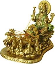 Hindu God Lord Surya Statue - India Home Temple Mandir Puja Idol Murti Pooja Item - Indian Diwali Holi Item Religious Hand...