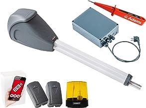 Sommer Twist XL draaipoortaandrijving, 1 stuk WLAN GATE-module voor smartphone app + lichtkasten + waarschuwingslicht 24 V...