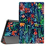Fintie Hülle für Das Neue Amazon Fire HD 10 Tablet (9. & 7. Generation - 2019 & 2017) - Slim Cover Lightweight Schutzhülle Tasche mit Standfunktion & Auto Schlaf/Wach Funktion, Dschungelnacht