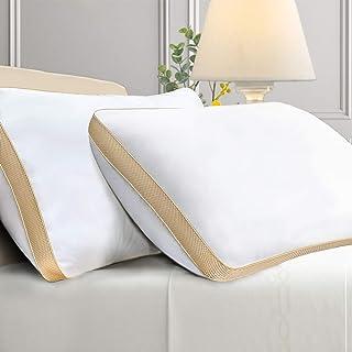 Sofslee Lot de 2 oreillers, Lot de 2 oreillers lavables en Machine, Oreiller de lit Alternatif, oreillers de Soutien Oreil...